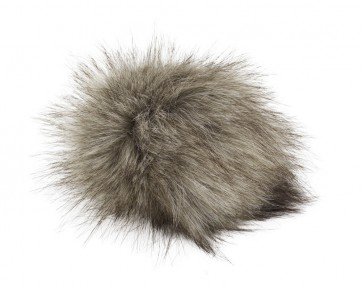 Pro Lana XXXL Fur Pompom, not from Animal, with snap, beige black