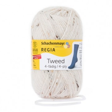 Schachenmayr Regia Tweed uni # 0002 50gr 4ply