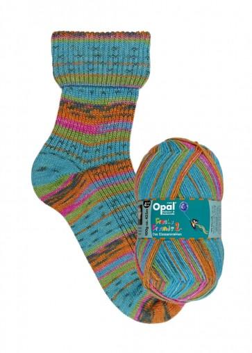"""Opal Freche Freunde 2 """"Petro sorgt für gute Stimmung"""" # 9950 4ply 100gr"""