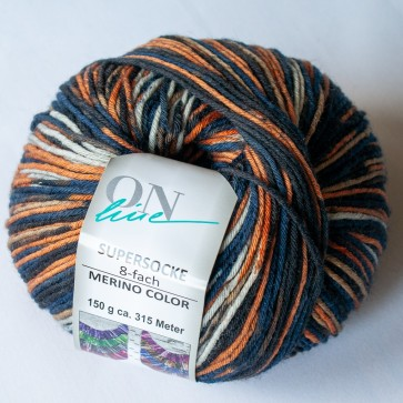 ONline Supersocke 150 Merino color # 2464 *8ply