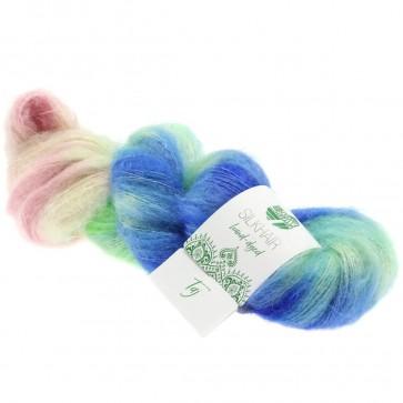 """Lana Grossa Silkhair hand - dyed 602 """"Taj"""" 50gr."""