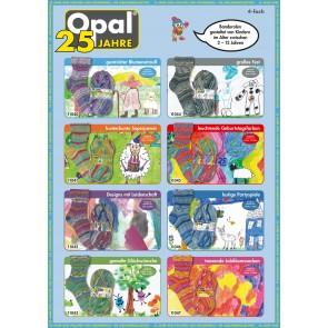 Opal 25 Jahre # 11045 leuchtende Geburtstagsfarben 4ply 100gr