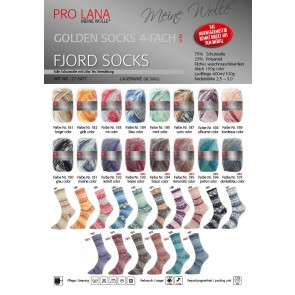 Pro Lana Golden socks Fjord # 192 100gr 4ply NEW color