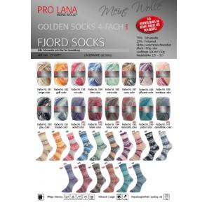 Pro Lana Golden socks Fjord # 195 100gr 4ply NEW color