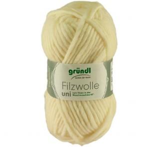Grundl Filzwolle uni # 01