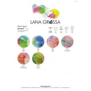 Lana Grossa Silkhair hand - dyed 606