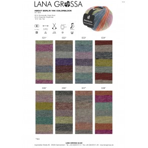 Lana Grossa Meilenweit 100 About Berlin Yak Colorbook # 638 *4ply NEW