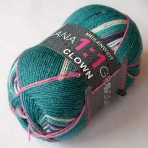 Lana Grossa Meilenweit 1:1 Clown # 722 *4ply 100gr