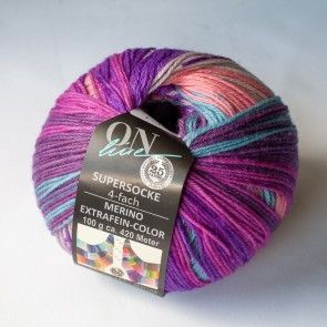 ONline Supersocke 100 Merino extrafine Sort.297 # 2556 4ply NEW COLOR