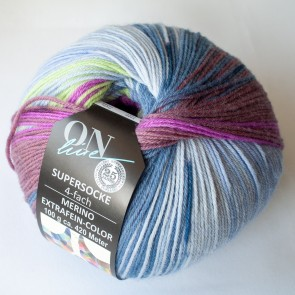 ONline Supersocke 100 Merino extrafine Sort.297 # 2557 4ply NEW