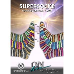 ONline Supersocke 100 Nova Merino Sort. 309 # 2654 4ply NEW