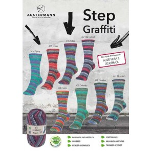 Austermann Step 4 Graffiti # 440 4ply 100gr