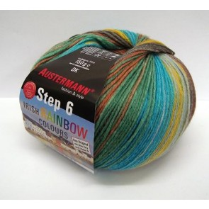 Austermann Step 6 Irish Rainbow 3 color # 623 *6ply