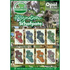 Opal Schafpate 13 Übernachtung auf der Heide # 11032 4ply 100gr